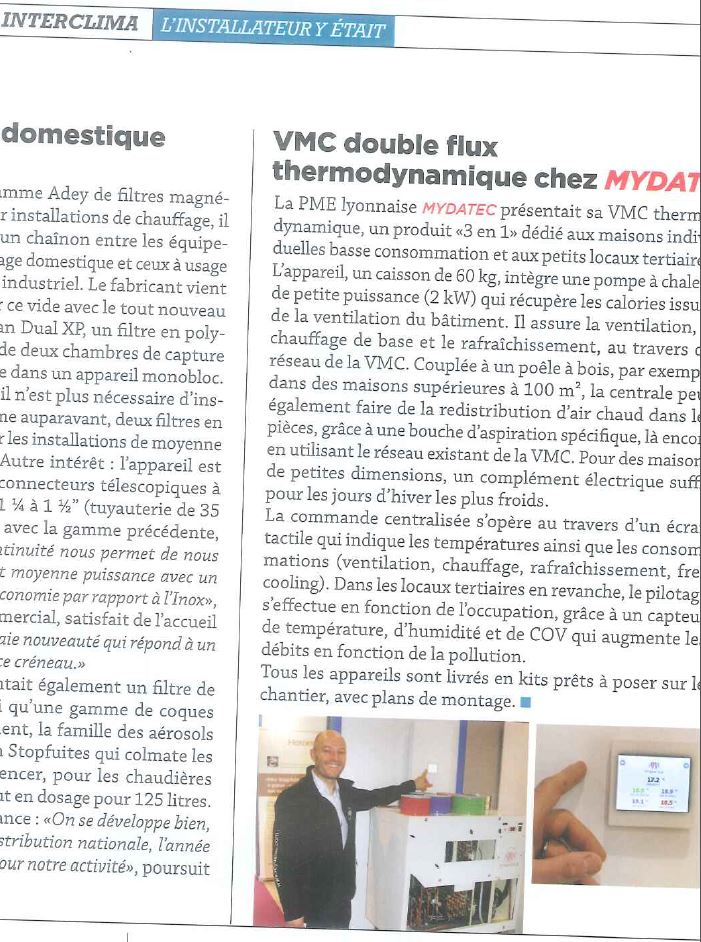 article vmc double flux thermodynamique chez mydatec mydatecmydatec. Black Bedroom Furniture Sets. Home Design Ideas